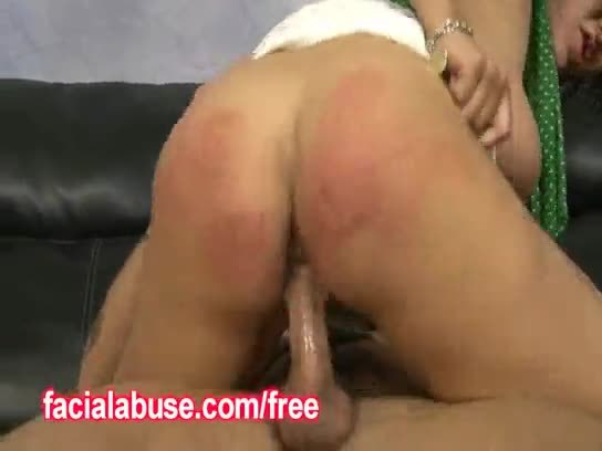 Big titty ho bounces on two big dicks